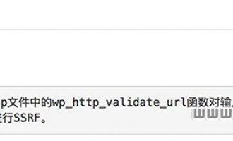 阿里云提示:wordpress IP验证不当漏洞